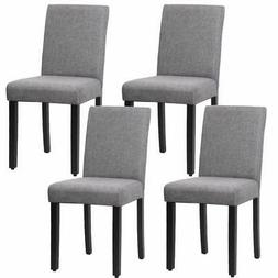 Dining Chair Elegant Design Modern Fabric Upholstered Dining