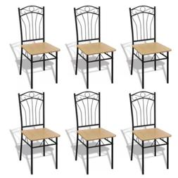 Dining Chairs Set of 2/4/6 Kitchen Living room Steel Frame C
