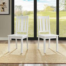 Dining Chairs Set Of 2 Solid Wood Kitchen Breakfast Dinette