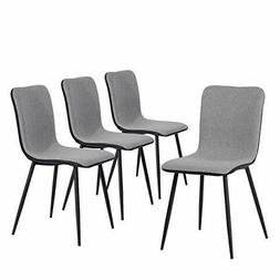 Coavas Dining Chairs Set of 4, Kitchen with Fabric Cushion B