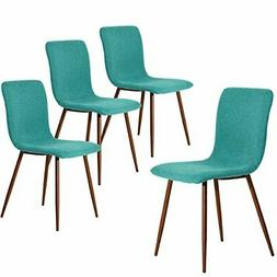 Coavas Dining Chairs Set of 4, Kitchen Chairs with Fabric Cu