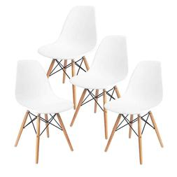 Dining Chairs Set of 4 White Chairs Home Office Furniture Li