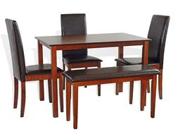 Dining Kitchen 5 PC SET Rectangular Table 3 Fallabella Chair