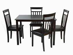 Dining Kitchen 5 Pc SET Rectangular Table and 4 Warm Chairs