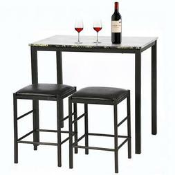 Dining Kitchen Table Set Dining Wood Marble Rectangular Wood