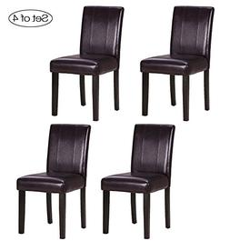 Set of 4 Dining Room Chair with Solid Wood Legs ZXBSWELE Eas