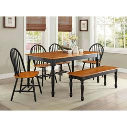 dining room table set for 6 farmhouse
