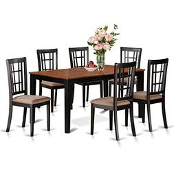 7 Piece dining room table set-kitchen tables Plus 6 kitchen