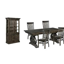6 Piece Dining Set with China Cabinet, Dining Table, and  Di