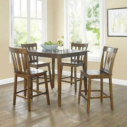 5 Piece Counter Height Dining Table And Chairs Set Bar Pub K