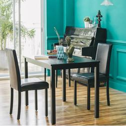 Dining Set Dining Kitchen Table Chairs Rectangular Breakfast