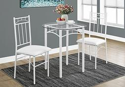 Monarch Specialties I 1001 Metal/Tempered Glass Dining Set ,