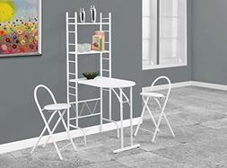 3Pc Dining Set in White