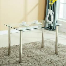 Dining Table Modern Kitchen Dining Room Desk Set Glass Table