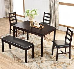 Harper&Bright Designs 5 Piece Dining Table Set, Solid Wood K