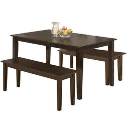 Dining Table Set Dining Table Kitchen Table and Bench for 4