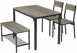 Teraves Dining Table Set for 4/Computer Desk,Kitchen Table w