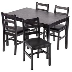 Dining Table Set, 5 Pieces Kitchen Dining Table With 4 Dinin