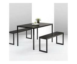 Dining Table With Two Benches / 3 Piece Set Expresso