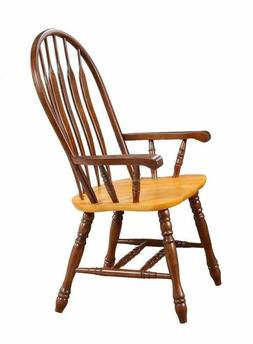 """Sunset Trading DLU-4130-NLO-A Comfort Dining Arm Chair, 41"""","""