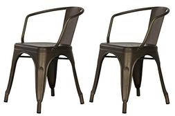 Dorel Home Products Elise Metal Dining Chair, Set of 2, Mult