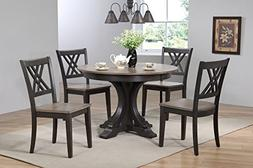Iconic Furniture 5 Piece Deco Double X-Back Dining Set, Anti
