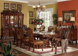 Acme Furniture Dresden 9 Piece Cherry Oak Pedestal Dining Ro