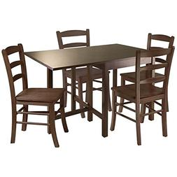 Pemberly Row 5 Piece Drop Leaf Dining Set in Antique Walnut