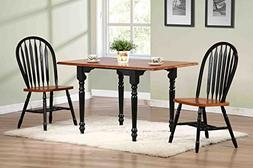Sunset Trading 3 Piece Drop Leaf Dining Set with Antique Bla