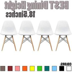 2xhome Eames Style Side Chair Natural Wood Legs Eiffel Dinin