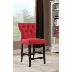 Acme Furniture ACME Effie Red Linen Counter Height Chair Set