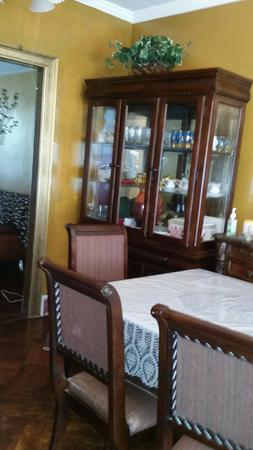 Elegant dining table set, Table, Chairs, and China Cabinet