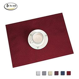 Eforcurtain Elegant Waffle Woven Fabric Place Mats Spillproo