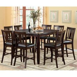 247SHOPATHOME IDF-3336PT-9PC-SET Dining-Room, 9-Piece Set, E