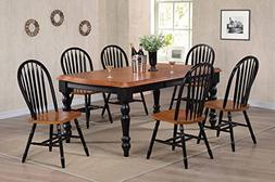 Sunset Trading 7 Piece Extension Dining Set with Arrowback C