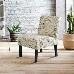 Fabric Armless Contemporary Set of 2 Accent Chair Dining Cha