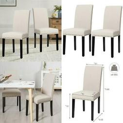 Fabric Dining Room Chairs Upholstered Modern Table Nailhead
