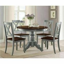 Farmhouse Dining Table Set Rustic Round Dining Room Kitchen