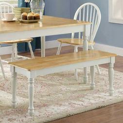 Farmhouse Wood Dining Table Bench Seat Kitchen Dinner Room S