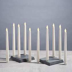 flameless taper candles drip leds