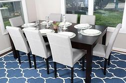 """Formal 9 Piece - 8 Person Butterfly Extension Table 42"""" x 78"""