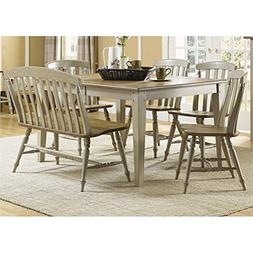 Liberty Furniture Al Fresco 6 Piece Dining Set in Driftwood