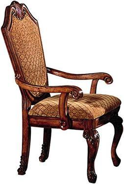 ACME Furniture Chateau De Ville Dining Arm Chair Fabric Cush