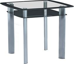 Best Quality Furniture D251T Dining Table Modern Black and G
