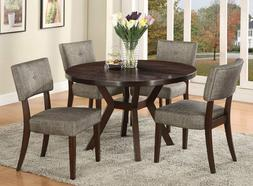 Acme Furniture Top Dining Table Set Espresso Finish Drake Co