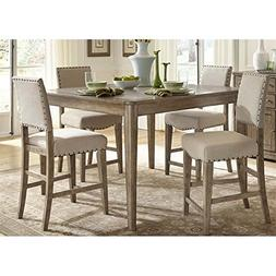 Liberty Furniture Weatherford 5 Piece Counter Height Dining