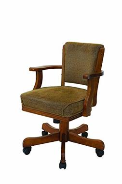 Game Chair in solid Oak on casters
