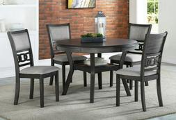 New Classic Gia Grey 5 Piece Round Dining Set