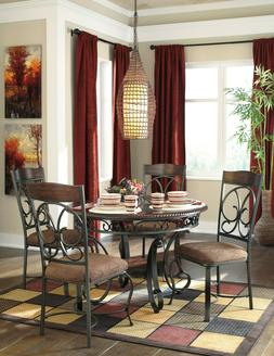 Ashley Furniture Glambrey 5 Piece Round Dining Room Set