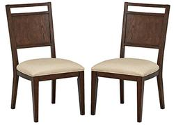 "Stone & Beam Glenwood Panel Dining Chairs, 38"" W, Set of 2,"